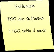 Settembre - Prezzi Casa Vacanze Sardegna